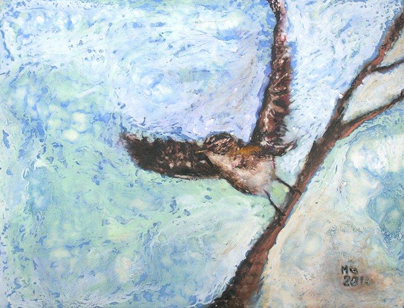 Megan Grugan Encaustic Bird