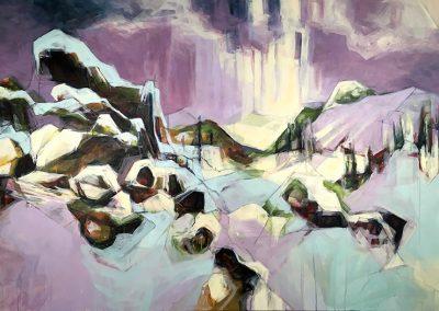 Rebecca Schultz, Acrylic on Canvas, Smalls Trail Brush Creek Ranch