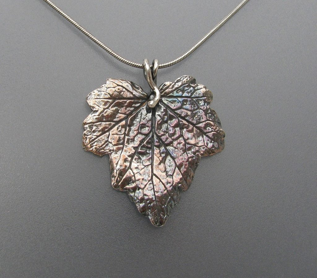 Autumn Leaf Pendant, Julie Mann