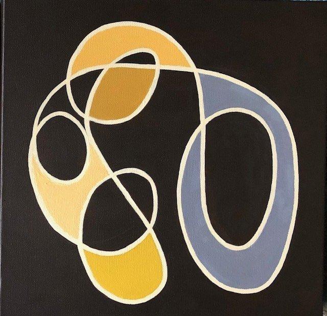 Mo Ganey, Acrylic on Canvas, Untitled 3