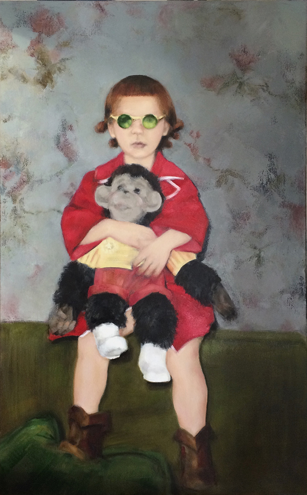 """Colleen Hammond, An Afternoon with Zippy oil on canvas, 30"""" x 48"""""""